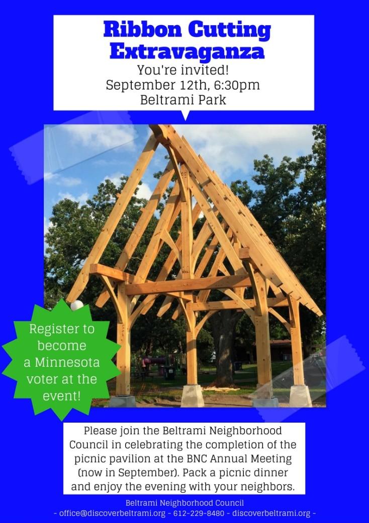 Beltrami Park Pavilion Celebration & BNC Annual Meeting