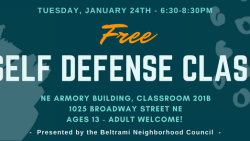 Register Now for Free Self-Defense Class