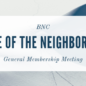 State of the Neighborhood (General Membership Meeting)
