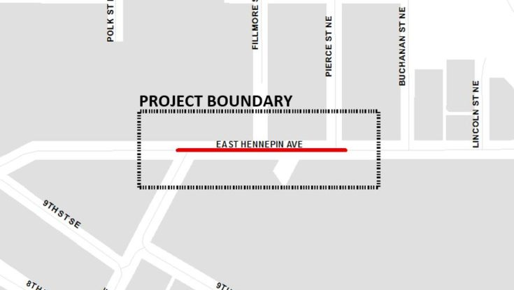 E Hennepin Ave Construction Project to Begin May 26th
