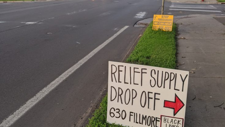 Relief Supply Drop Off at 630 Fillmore St NE