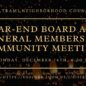December Board and General Membership Meeting