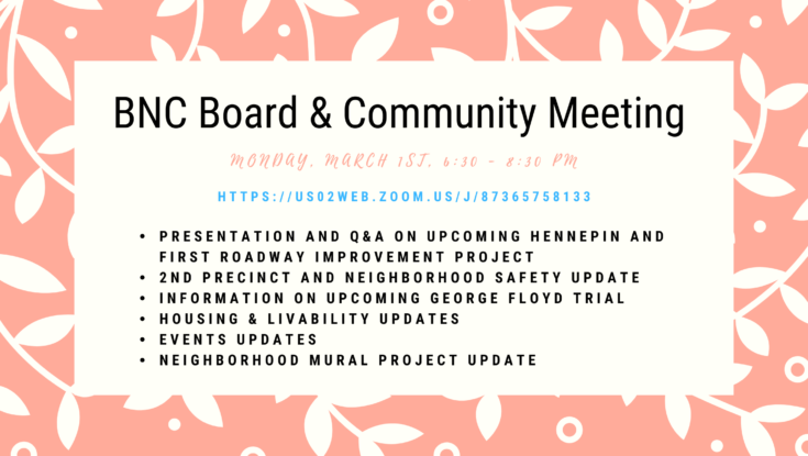 BNC Board & Community Meeting