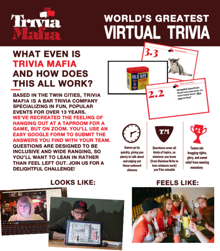 Virtual Trivia and Mural Fundraiser