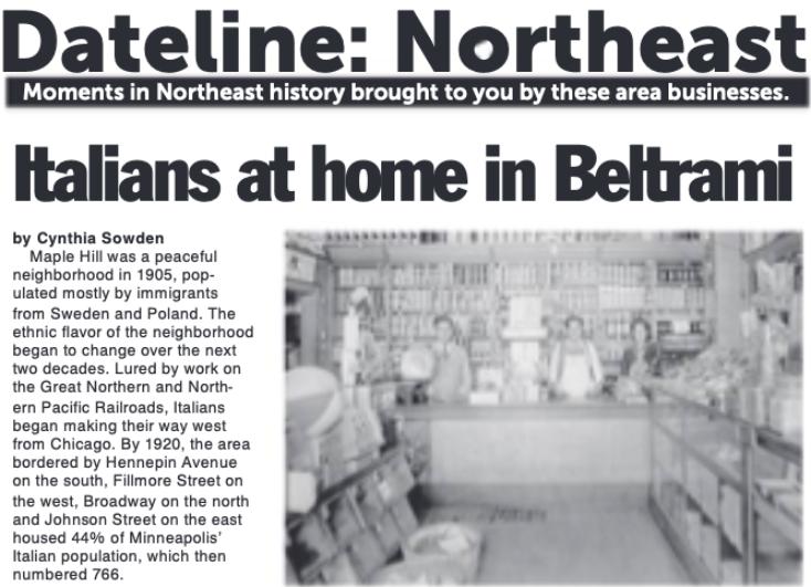 Beltrami's History in the Northeaster