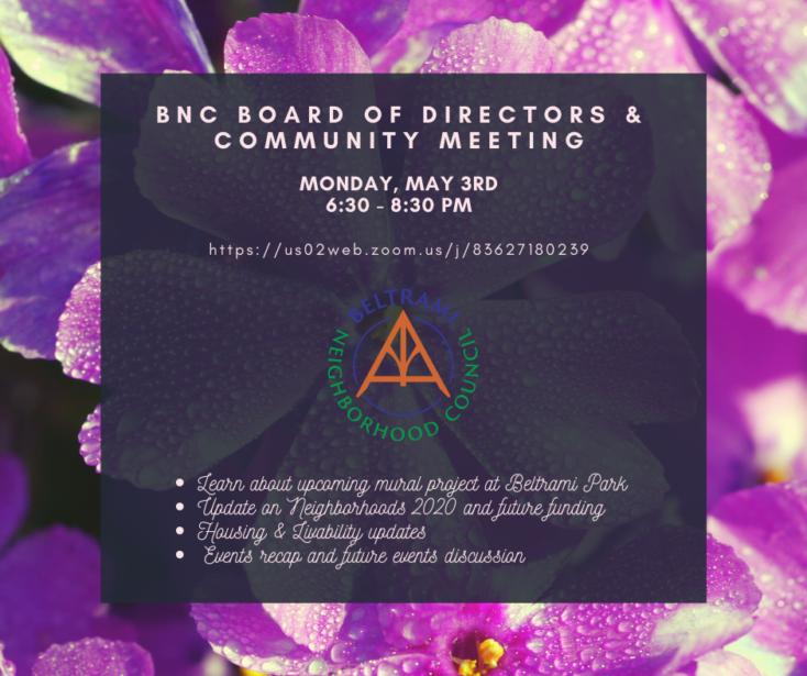 BNC May Board & Community Meeting